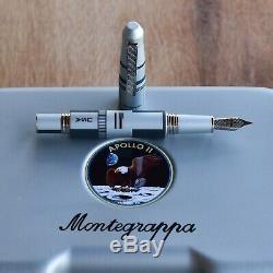 Montegrappa Special Edition 2019 NASA Moon Landing Aluminum Steel Fountain Pen