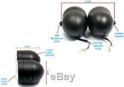 Motorbike Headlight & Flyscreen Dominator Tracker Streetfighter Black Dual Twin