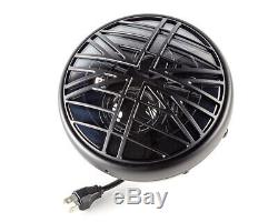 Motorcycle Headlight LED 7.7 with Union Flag Grill Retro Cafe Racer & Scrambler
