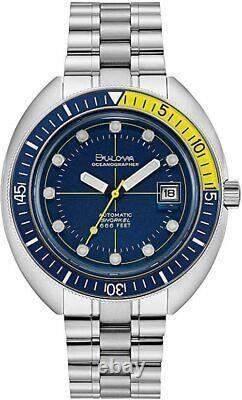 NEW BULOVA Special Edition Oceanographer Devil Diver Snorkel Automatic 96B320