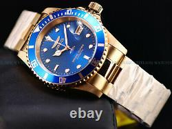 NEW Invicta Men 42mm SPECIAL EDITION Pro Diver Automatic 18KRGIP Blue Dial Watch