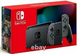 NEW Nintendo Switch Console w Gray Joy Cons 32GB Memory V2 EU version + adapter