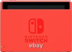 NEW Nintendo Switch Mario Blue & Red Joycon Special Edition + Free Case