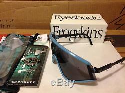 NEW OAKLEY Special Heritage Edition EYESHADE Blue / Grey Lens, OO9259-07