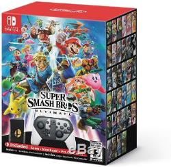 NEW Super Smash Bros Ultimate Limited Edition Nintendo Switch (No Console)