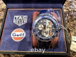 NEW TAG Heuer Formula 1 Gulf Special Edition Chrono Watch 43mm CAZ101N. FC8243