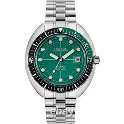 New Bulova Special Edition Green Dial Stainless Steel Men's Watch 96B322