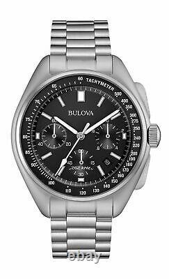 New Bulova Special Edition Lunar Pilot Chronograph Black Dial Men's Watch 96B258