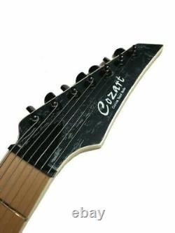 New Custom 7 String Satin Black Concert Pro Series Electric Guitar