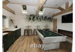 New Italian Grey Special Edition Classic Slimline Slate 7ft Pool Table