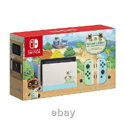 New Nintendo Switch Animal Crossing New Horizons Special Edition Console