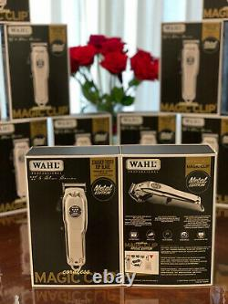 New Wahl Magic Clip Cordless Clipper Metal Edition 8509 Brand New, special barber