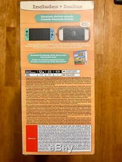 Nintendo Switch Animal Crossing Special Edition Console + Game UK BOX & Charger