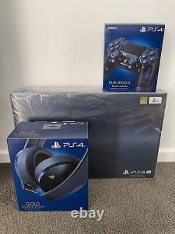 PS4 500 Million Limited Edition Console & Headset with Extra Controller NEW AU3