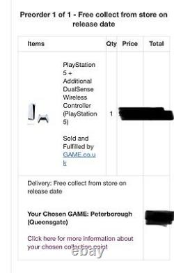 PlayStation 5 (PS5) Uk Disc Version + Extra Controller Release Day Pre Order
