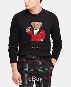 Polo Ralph Lauren Bear Sweater Red Jacket Martini Special Edition 2XL XXL