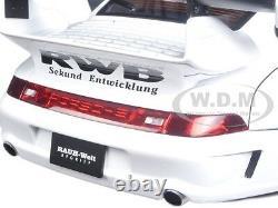 Porsche Rwb 993 White With Gun Gray Wheels 1/18 Model Car By Autoart 78150