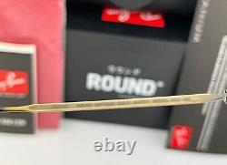 Ray-Ban RB8147 Round Sunglasses 913757 Titanium Antique Gold Frame Gray Lens 50