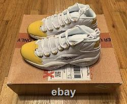 Reebok Question Mid Yellow Toe Shoe Palace Special Box Edition Size US 11