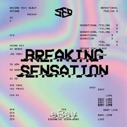 SF9-Breaking Sensation 2nd Mini Album CD+Booklet+PhotoCard+Selfie+Gift K-POP