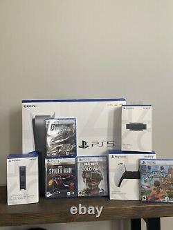 Sony PlayStation 5 Console PS5 Disc Version Bundle Extra Controller