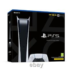 Sony Playstation 5 PS5 NEW SEALED Digital Edition Console + Extra Controller