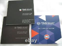 TAG HEUER FORMULA 1 GULF SPECIAL EDITION CAZ101N. FC8243 43mm New Mint Condition