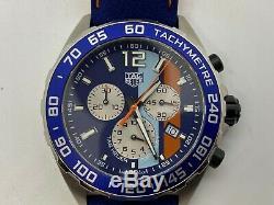TAG Heuer Formula 1 Gulf Racing Special Edition 43mm Mens Watch CAZ101N. FC8243