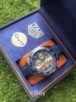 TAG Heuer Formula 1 Gulf Special Edition 43mm Mens Watch CAZ101N