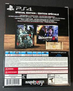 Uncharted 4 A Thief's End Special Edition STEELBOOK + Artbook (PS4) NEW